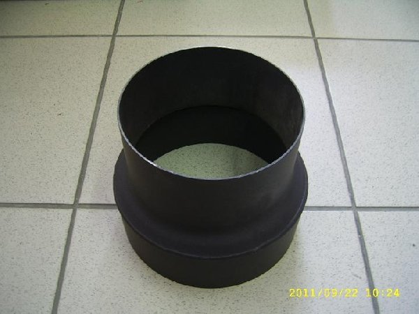 Szűkítő 132/120 vastagfalú fekete