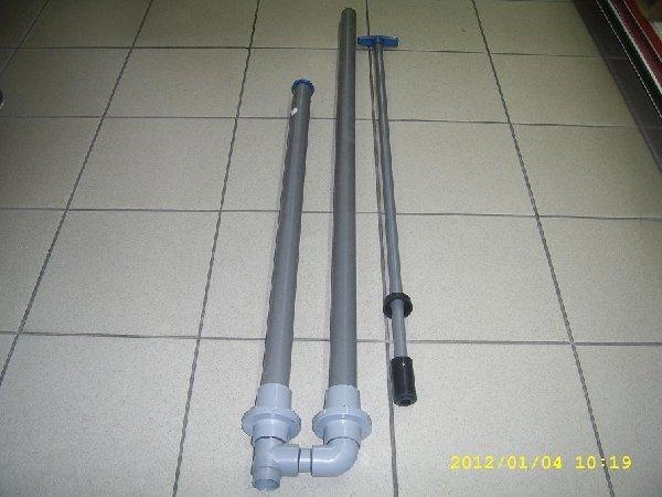 Műanyag pumpa PVC 40-es békaszelepes