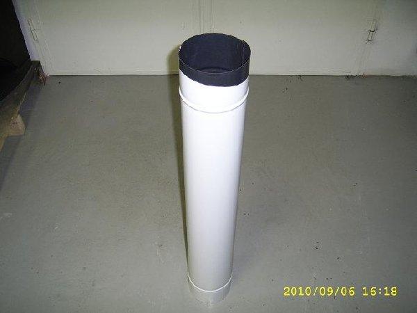 Füstcső 132/80 cm zománcozott